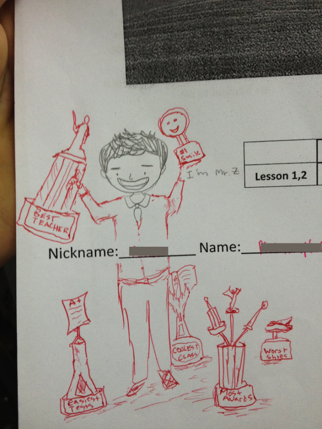 When you can't win awards, draw them.